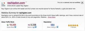 Alexa Ranking for Traffic to My Blog