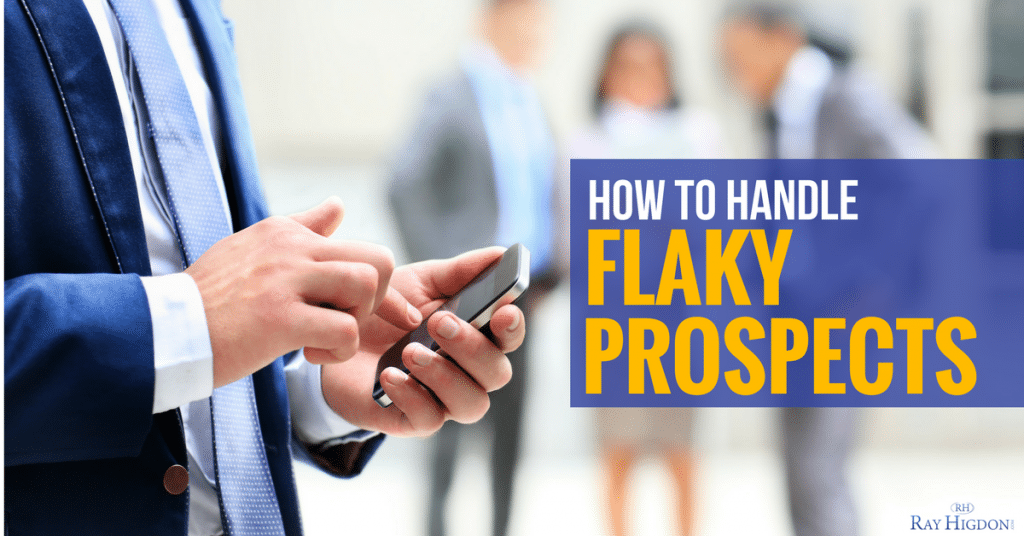 How To Handle Flaky Network Marketing Prospects Who Never Sign Up