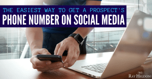 Network Marketing Training: The Easiest Way To Get A Prospect's Phone Number On Social Media