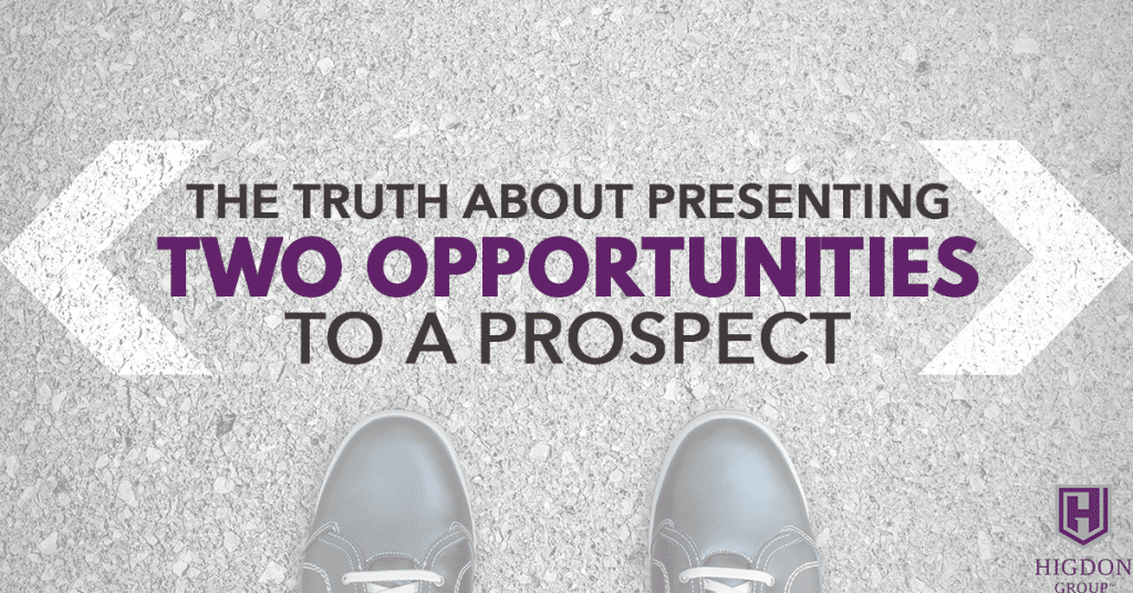The Truth About Presenting Two Network Marketing Opportunities To A Prospect