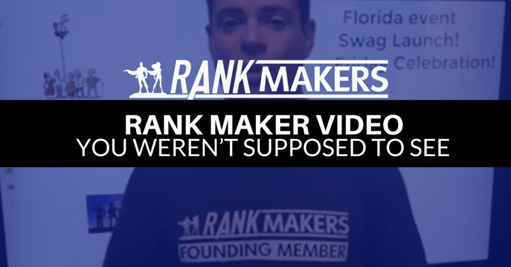 Rank Maker Video You Weren't Supposed To See =)