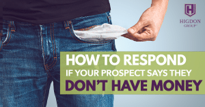 MLM Posture: How To Respond If Your Prospect Says They Don't Have Money
