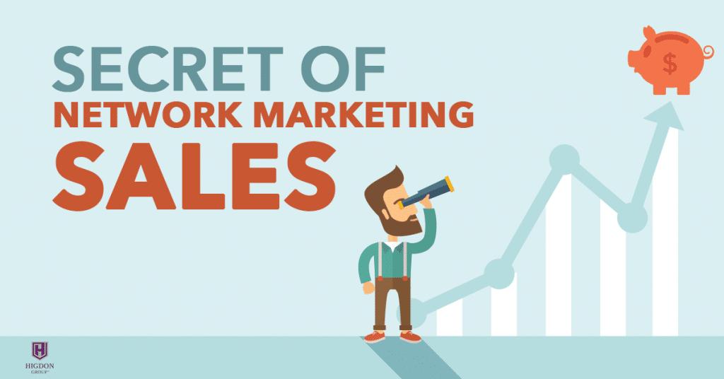 Secret Of Network Marketing Sales