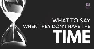 MLM Recruiting: What To Say When They Don't Have The Time