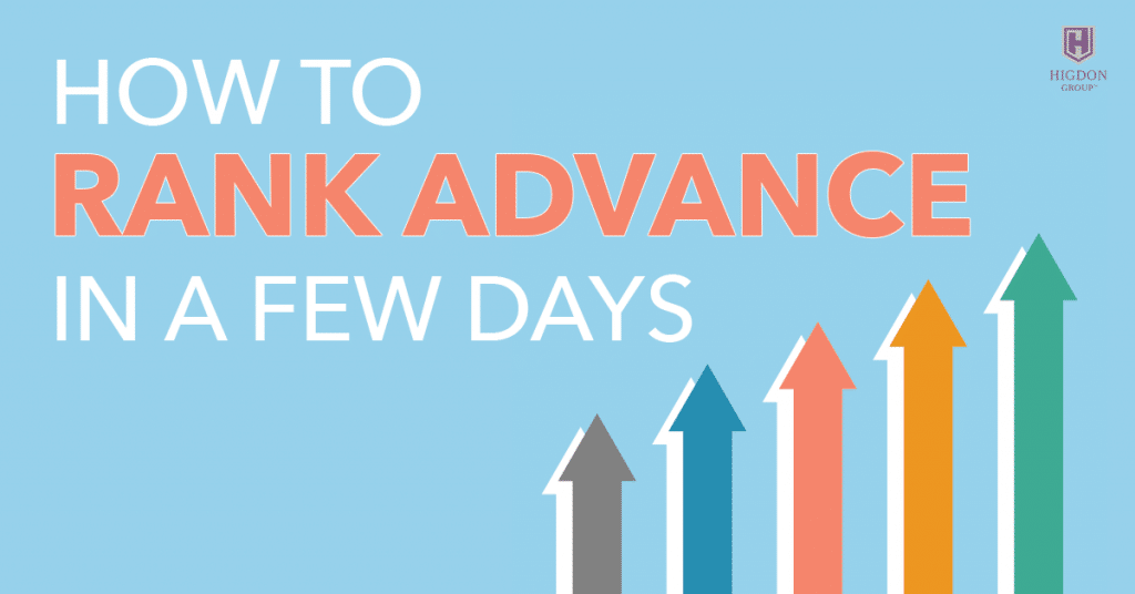 How To Rank Advance In A Few Days