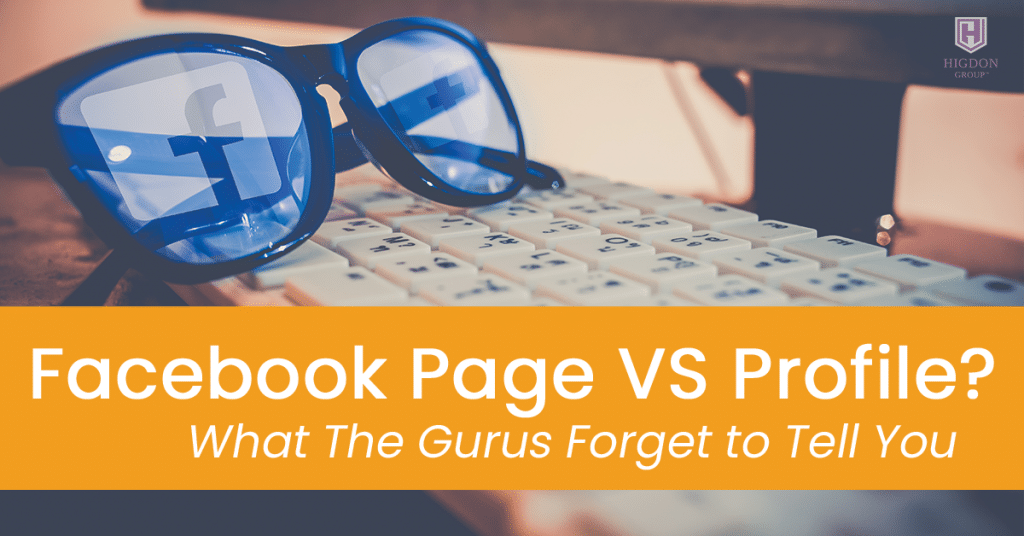 Facebook Page VS Profile? What The Gurus Forget to Tell You