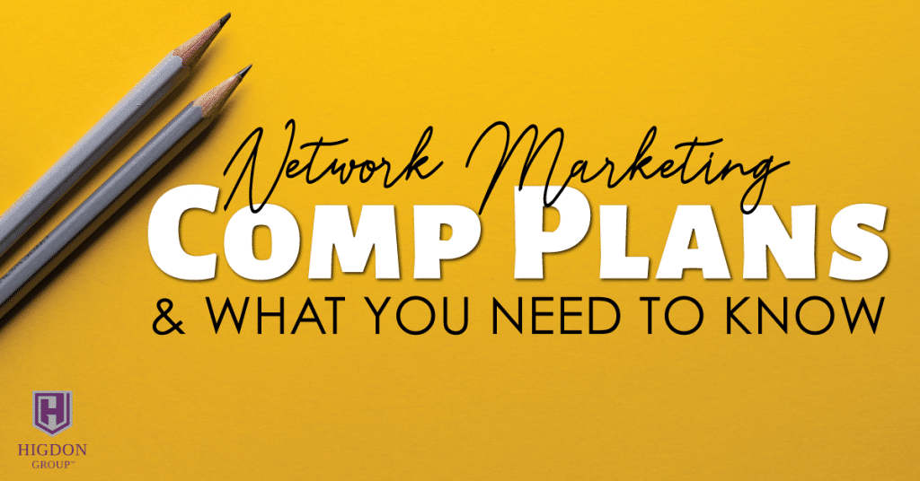 network marketing comp plans