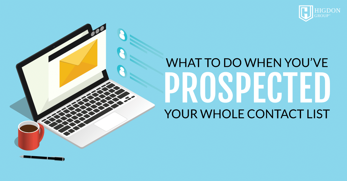 prospected your while contact list