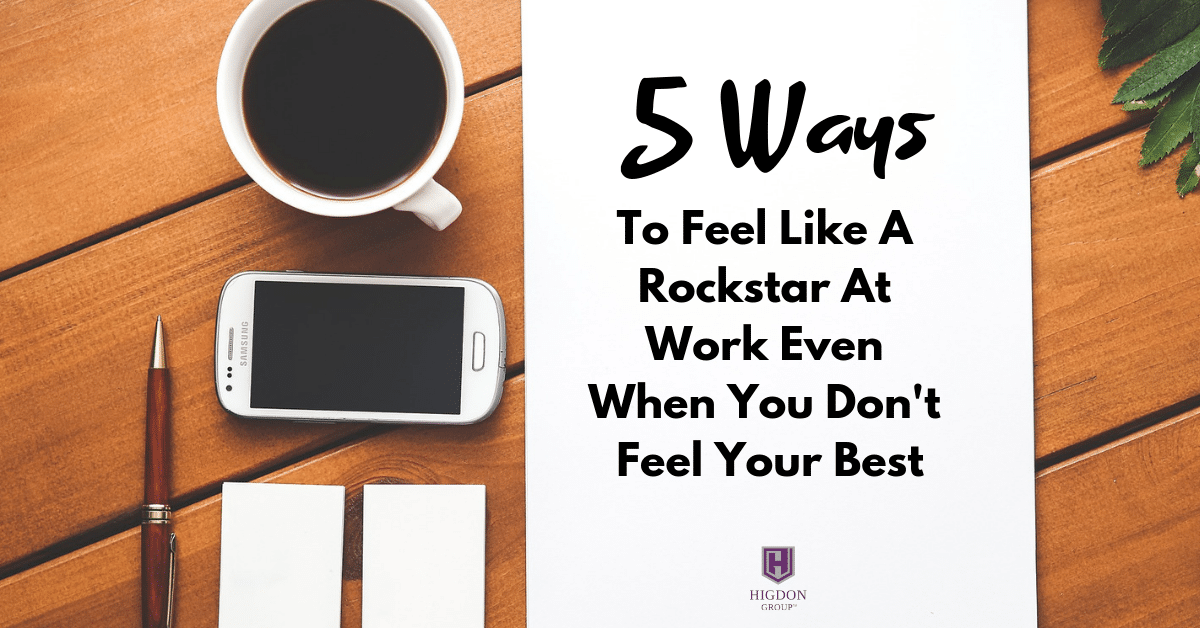 5 ways to feel like a rockstar at work