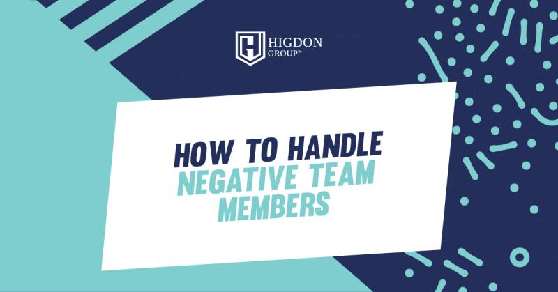 negative team members