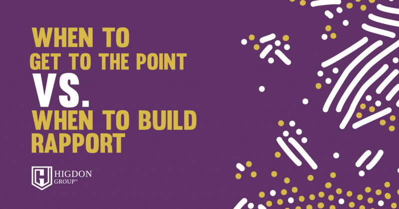 building rapport with prospects