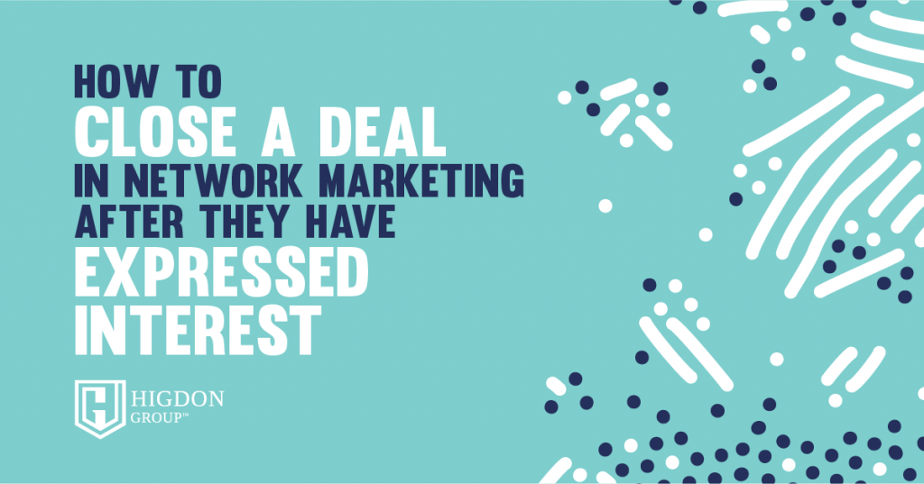 Close a deal in network marketing